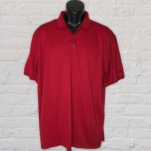 Nike Golf Polo Shirt Fit Dry Red Short Sleeve XL
